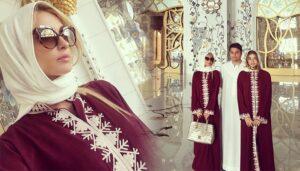 paris hilton in simle hijab style