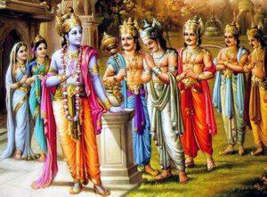 krishna and pandavas relation