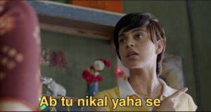 Ab tu nikal yahan seh from tanu weds manu is popular hindi meme templates