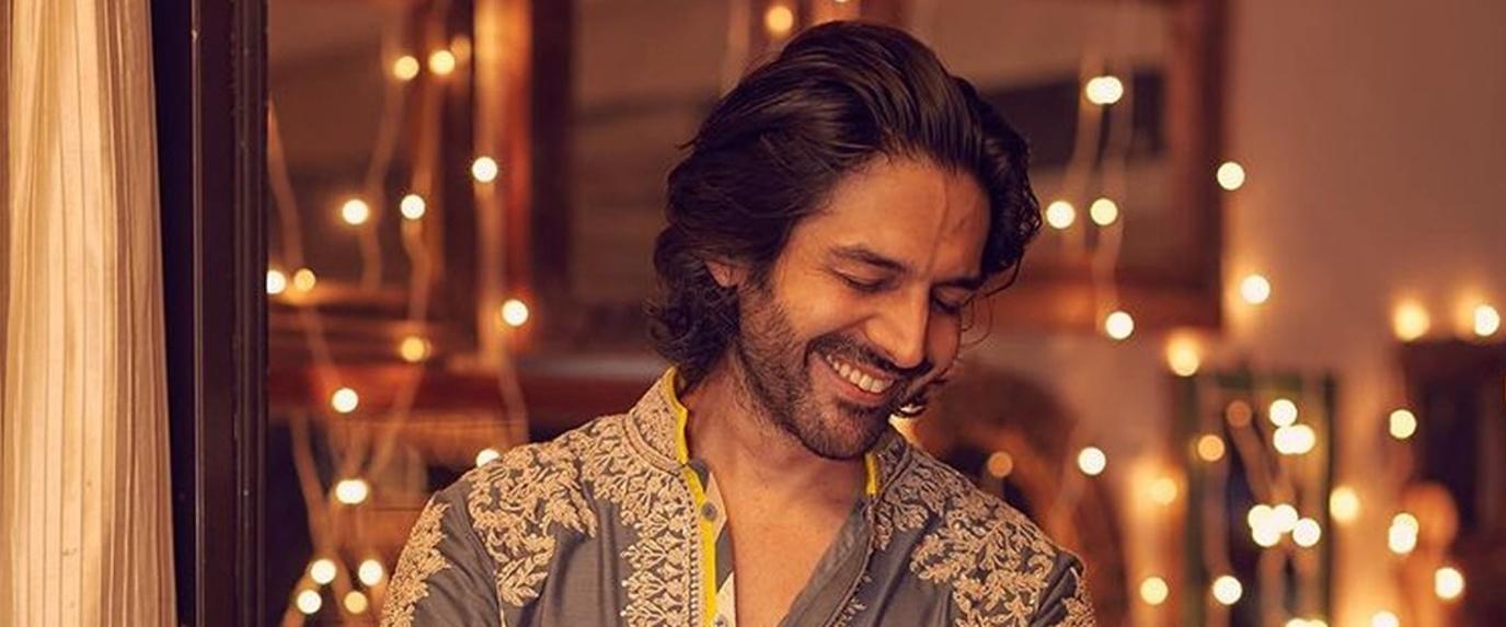 karthik aryan in long hairstyle for indian men